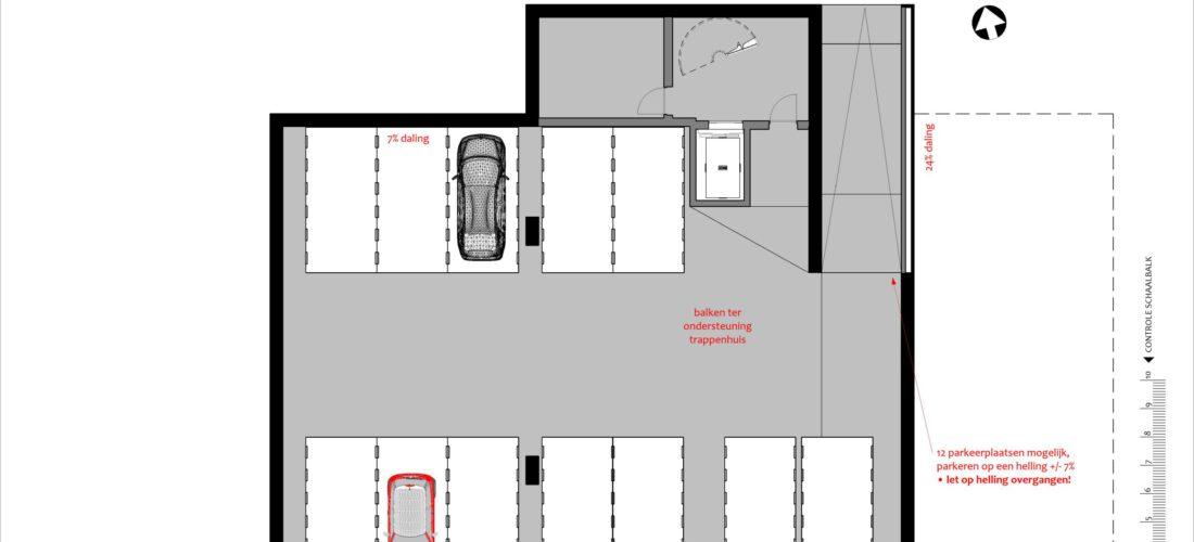 parkeerkelder schetsontwerp (voorbeeld)
