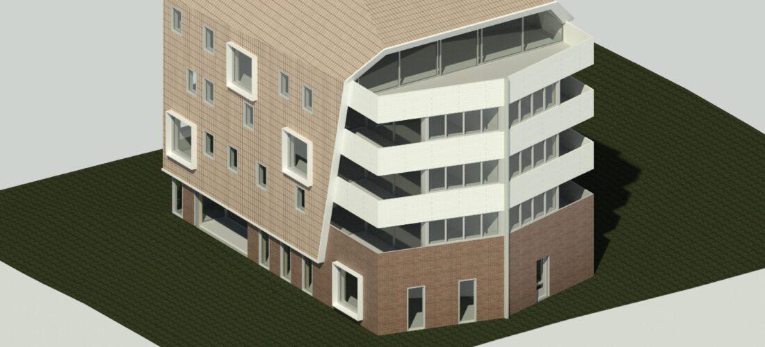 een voorbeeld schuin dak (schetsontwerp)